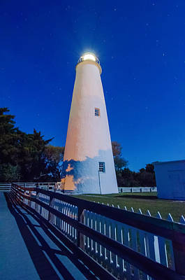 The Ocracoke Lighthouse On Ocracoke Island On The North Carolina Art Print by Alex Grichenko