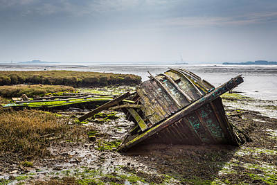 Photograph - The Old Barge. by Gary Gillette