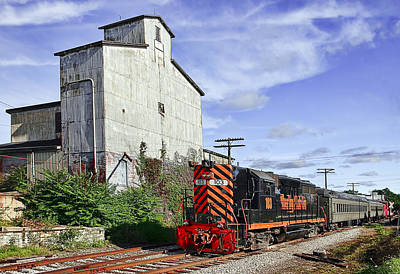 Tracks Photograph - The Old Elevator by Marcia Colelli