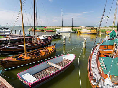 The Old Harbor In Wieck Art Print