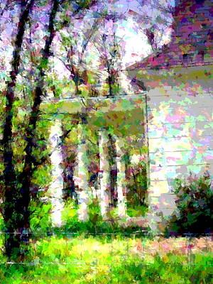 Friendly Digital Art - The Old Homestead by Joyce Dickens