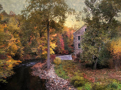 Mills Photograph - The Old Stone Mill by Jessica Jenney