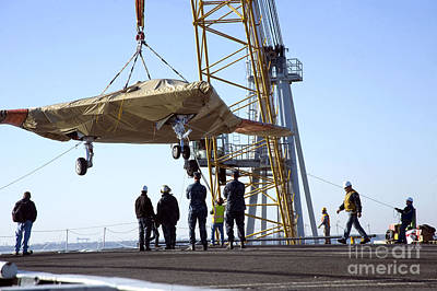 Uca Photograph - The Onload Of The X-47b Unmanned Combat by Stocktrek Images