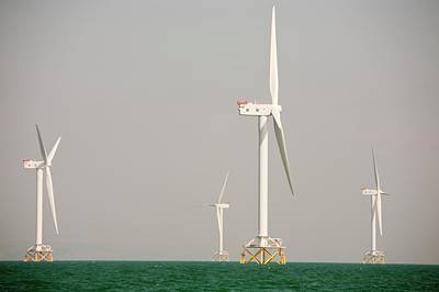 The Ormonde Offshore Wind Farm Art Print