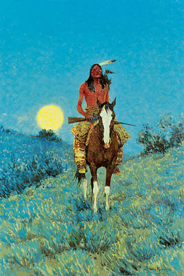 Equine Fine Art Painting - The Outlier by Frederic Remington