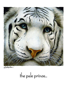 White Tiger Painting - The Pale Prince... by Will Bullas