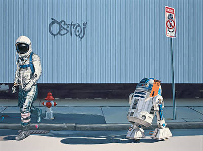 R2d2 Painting - The Parking Ticket by Scott Listfield