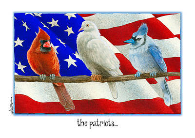 Blue Jay Painting - The Patriots... by Will Bullas