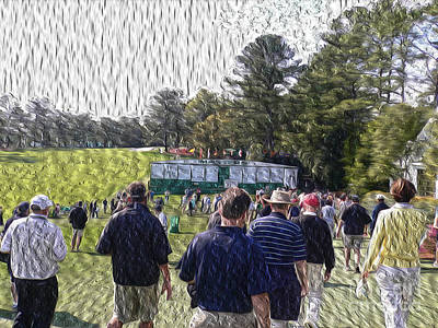 Augusta Golf Photograph - The Patrons by David Bearden