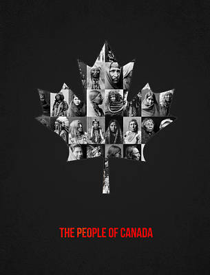 The People Of Canada Art Print by Aged Pixel