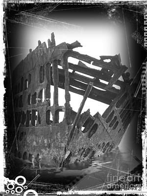 Mixed Media - The Peter Iredale 3 by Chalet Roome-Rigdon