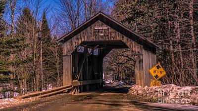 Photograph - The Pine Brook Covered Bridge. by New England Photography