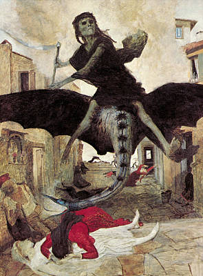 The Plague Art Print by Arnold Bocklin