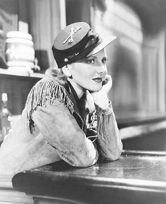 Fringe Jacket Photograph - The Plainsman, Jean Arthur, 1936 by Everett