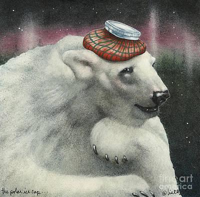 The Polar Ice Cap... Art Print by Will Bullas