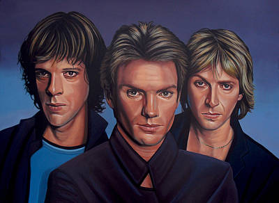 Bottle Painting - The Police by Paul Meijering