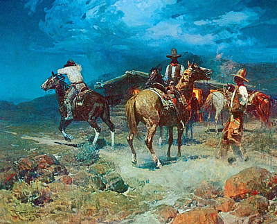 The Pony Express Art Print by Frank Tenney Johnson