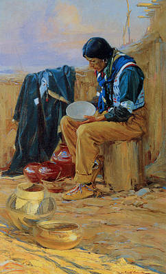 The Pottery Maker Art Print by Gerald Cassidy