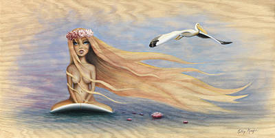 The Princess And The Pelican Original by Kelly Meagher