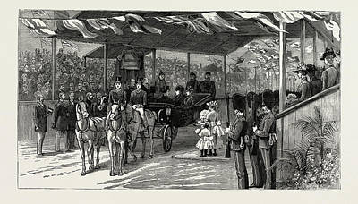 North Wales Drawing - The Queens Visit To North Wales, Uk by Litz Collection