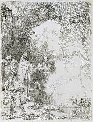 Drawing - The Raising Of Lazarus by Celestial Images