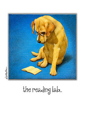 Yellow Lab Painting - The Reading Lab... by Will Bullas