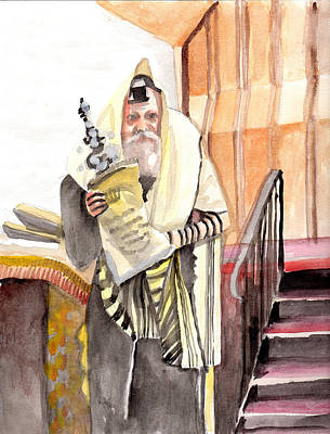The Rebbe Art Print by Baruch Y Lebovits