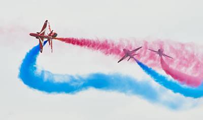 Photograph - The Red Arrows by Steven Poulton