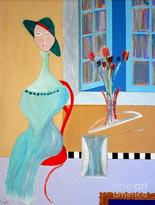 Art Print featuring the painting The Red Chair by Bill OConnor