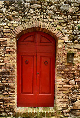 Photograph - The Red Door by Dany Lison