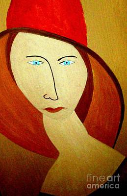 Painting - The Red Hat by Bill OConnor