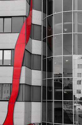 The Red Line Art Print by Christine Czernin Morzin