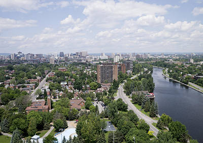 Photograph - The Rideau Canal And Downtown, Ottawa by Rob Huntley