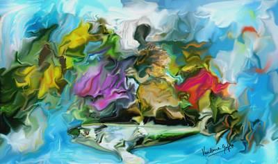 Nag Painting - The Rider by Vandana Devendra