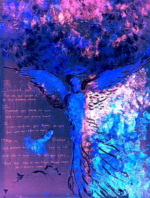 Mixed Media - The Rise Of A Fallen Angel by Giorgio Tuscani