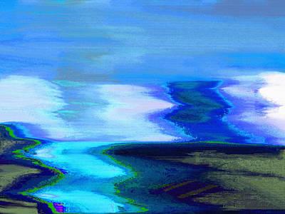 White River Scene Mixed Media - The River by Lenore Senior