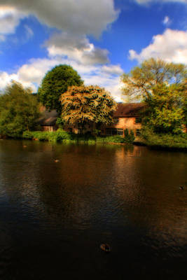 Photograph - The River Weir At Bakewell - Peak District - England by Doc Braham