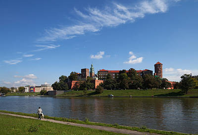 Royal Chapel Photograph - The River Wisla Passing The 11th by Panoramic Images
