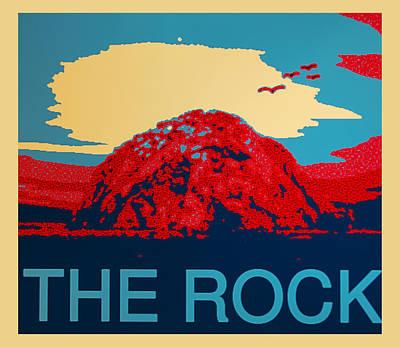 Morro Bay Digital Art - The Rock by Barbara Snyder