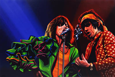 Bassist Painting - The Rolling Stones 2 by Paul Meijering