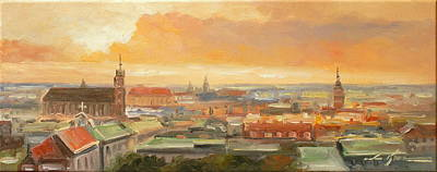 Painting - The Roofs Of Krakow- Poland by Luke Karcz
