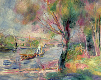 Hue Painting - The Seine At Argenteuil by Pierre Auguste Renoir