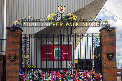 The Shankly Gates Print by Paul Madden