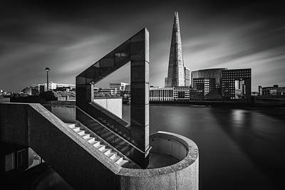 River Thames Photograph - The Shard In Geometry by Nader El Assy