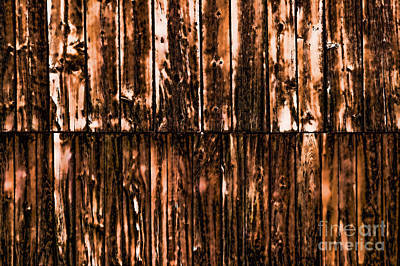 Photograph - The Side Of A Weathered Barn. by Don Landwehrle