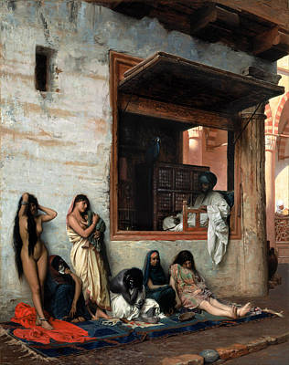 Jean-leon Gerome Painting - The Slave Market by Jean-Leon Gerome