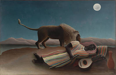The Sleeping Gypsy Art Print by Henri Rousseau