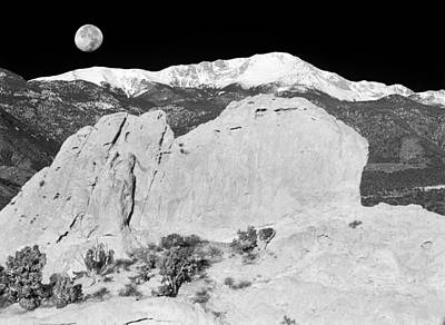 The Sleeping Indian And Pikes Peak  Art Print