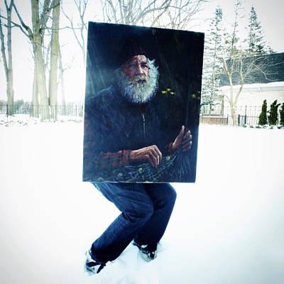 Old Man Digital Art - The Sneaky Fisherman by Natasha Marco