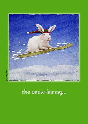 Boarding Painting - The Snow Bunny... by Will Bullas